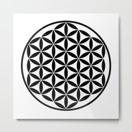 Pure Energy The Flower of Life Metal Print