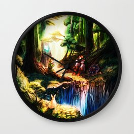entertaining giver to peace Wall Clock