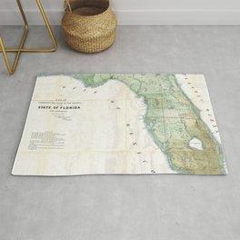 Vintage Map of Florida (1853) Rug
