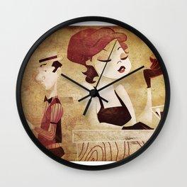 bar scene Wall Clock