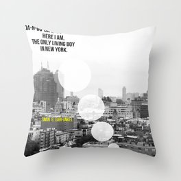 """The Only Living Boy in New York"" by Simon & Garfunkel Throw Pillow"