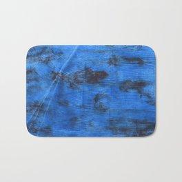 Bright navy blue abstract watercolor Bath Mat