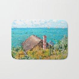 Claude Monet The Cabin At Saint-Adresse Bath Mat