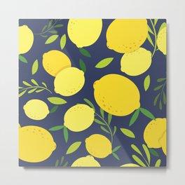 Freshly Picked Lemon Metal Print