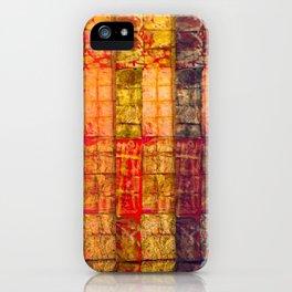 no. 235 pink orange brown red yellow gold pattern iPhone Case