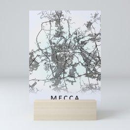 Mecca, Saudi Arabia, White, City, Map Mini Art Print