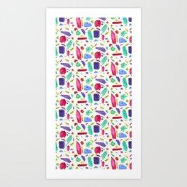 Asymmetric Jems Art Print