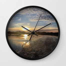 Melancholy Sunset Wall Clock