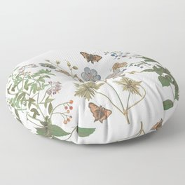 The fragility of living - botanical illustration Floor Pillow