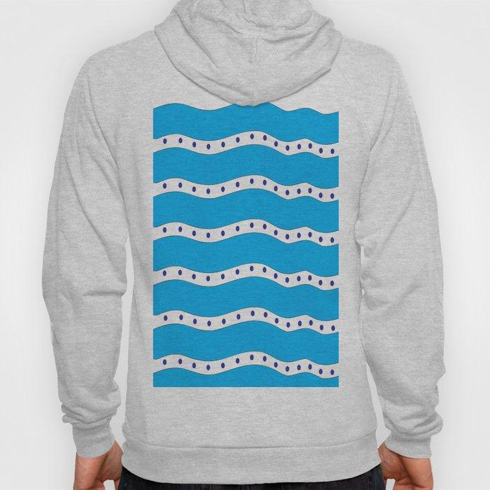 Coastal Pattern Blue Ocean Hoody