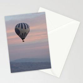 Balloon ride in pastels by Laila Cichos Stationery Cards