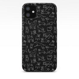 Dogs Fun Black iPhone Case