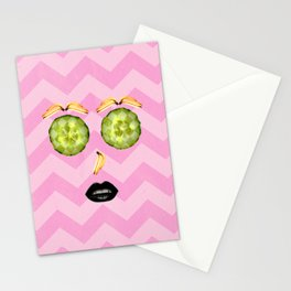 Fruit pelling Stationery Cards