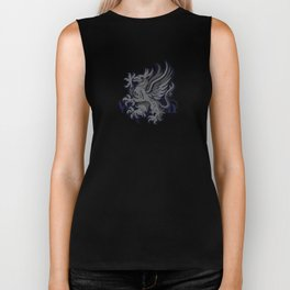 Grey Warden Griffin Pattern Biker Tank