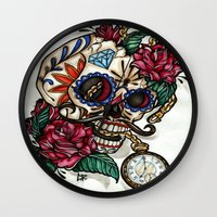 gentleman Wall Clocks featuring Gentleman by catscratchproject
