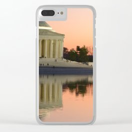 Thomas Jefferson Memorial at twilight Clear iPhone Case