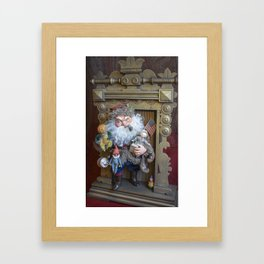 Rucus Studio Santa Claus with Toys Framed Art Print