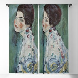 Stolen Art - Portrait of a Lady by Gustav Klimt Blackout Curtain