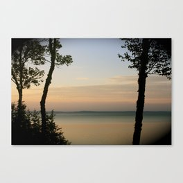 Sunset on the Saint Lawrence River Canvas Print