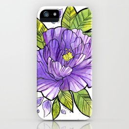 VIOLET FLOWER iPhone Case