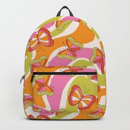 Groovy Butterfly 70s  Backpack