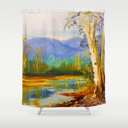 Ovens River Near Bright Shower Curtain