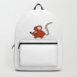 Drawn by hand a Friendly little mouse for children and adults Backpack