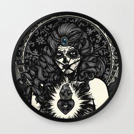 Sugar Skull Bride - B&W Wall Clock