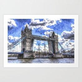 Tower Bridge and the Stavros N Niachos Art Print
