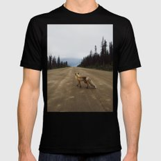 Road Fox LARGE Black Mens Fitted Tee
