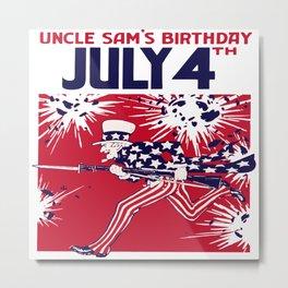 4th of July - Uncle Sam Metal Print