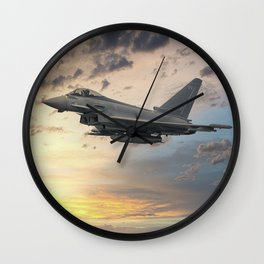 Euro Fighter Typhoon Wall Clock