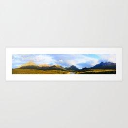 Cuillin Mountains Panorama Art Print