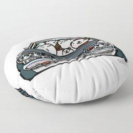 Crazy Car Art 0157 Floor Pillow