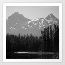 Lake Mist Art Print