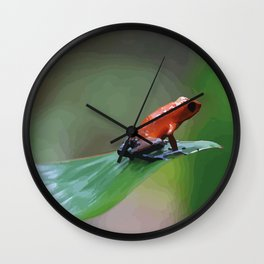 Blue Jeans Frog Costa Rica Wall Clock