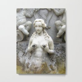 Fountain Sculpture Photography Metal Print