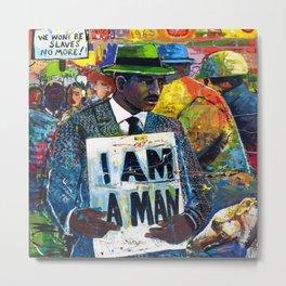 African American Atlanta Civil Rights Memorial Portrait No. 1 Metal Print