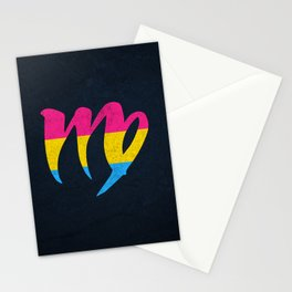 Pansexual Pride Flag Virgo Zodiac Sign Stationery Cards