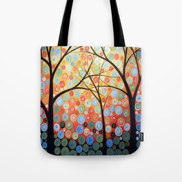 Abstract Art Original Landscape Painting ... Nights of Splendor Tote Bag