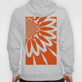 The Modern Flower Orange Hoody