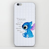 ohana iPhone & iPod Skins featuring Ohana by nafrodrigues