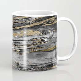 Stylish gold abstract marbleized paint Coffee Mug
