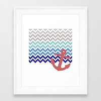nautical Framed Art Prints featuring Nautical  by emain