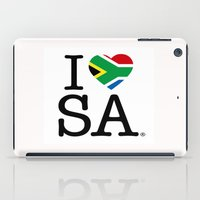 south africa iPad Cases featuring I LOVE SOUTH AFRICA by ROGUE AFRICA