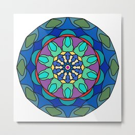 Hand drawn mandala in various colors Metal Print