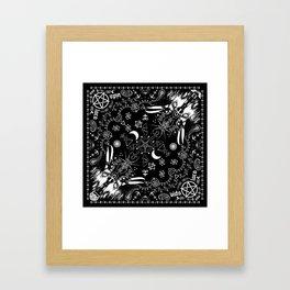 Batscraft: Crows Bandana Framed Art Print