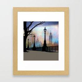 London Embankment Framed Art Print