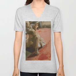 Anders Zorn - A Portrait of the Daughters of Ramón Subercaseaux Unisex V-Neck