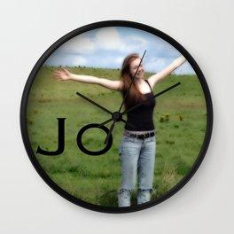 Joy!   Nadia Bonello Wall Clock